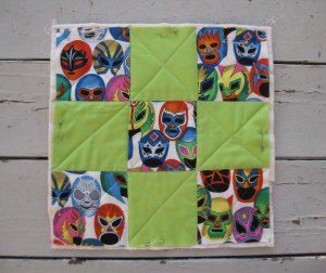 The easy part:  You sew your blocks together and quilt them the fast and lazy way.