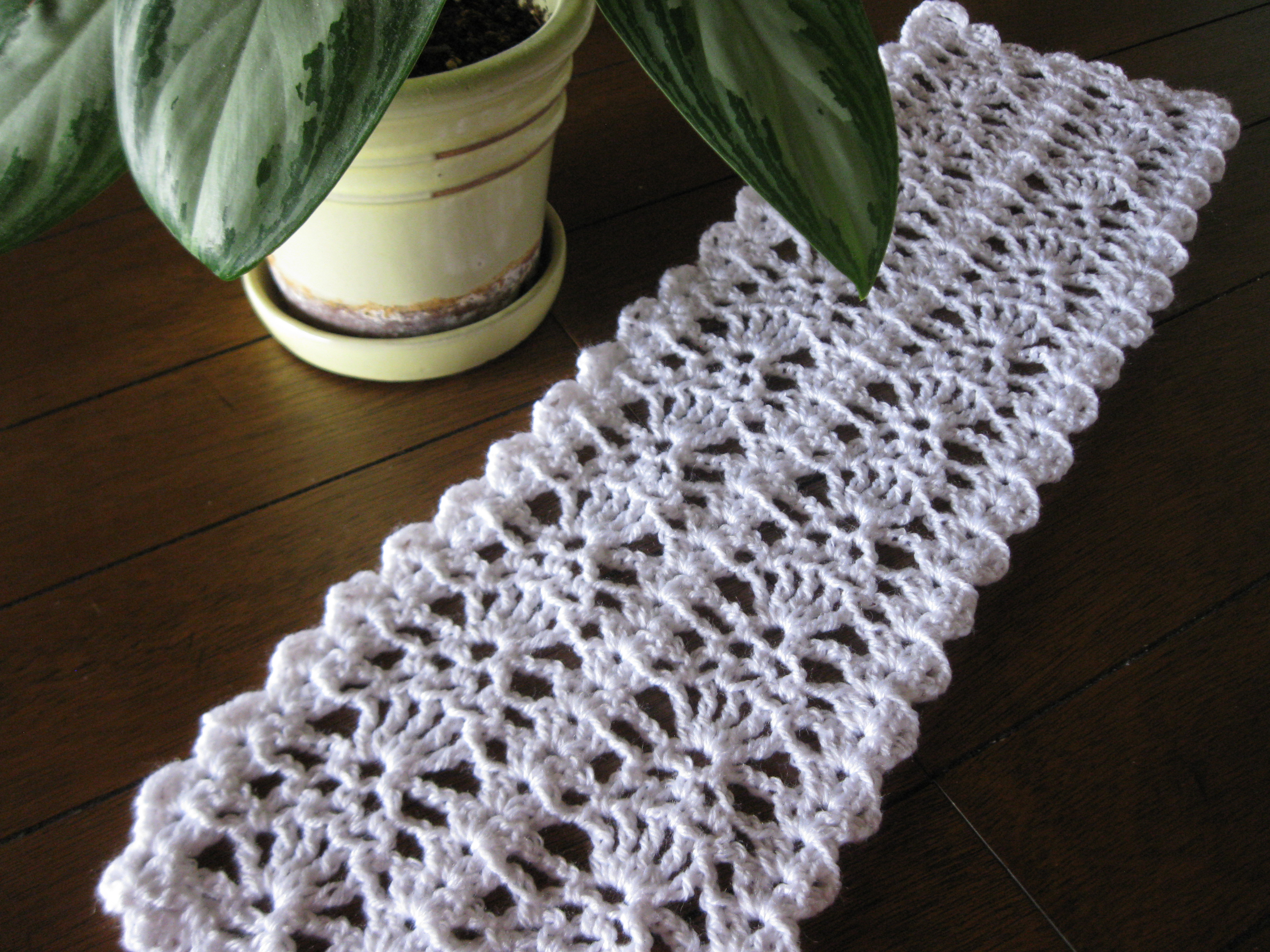 Day 81365 The Day I Finished My Short Crocheted Table Runner 365