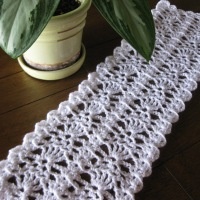 Day 81/365:  The Day I Finished My Short Crocheted Table Runner