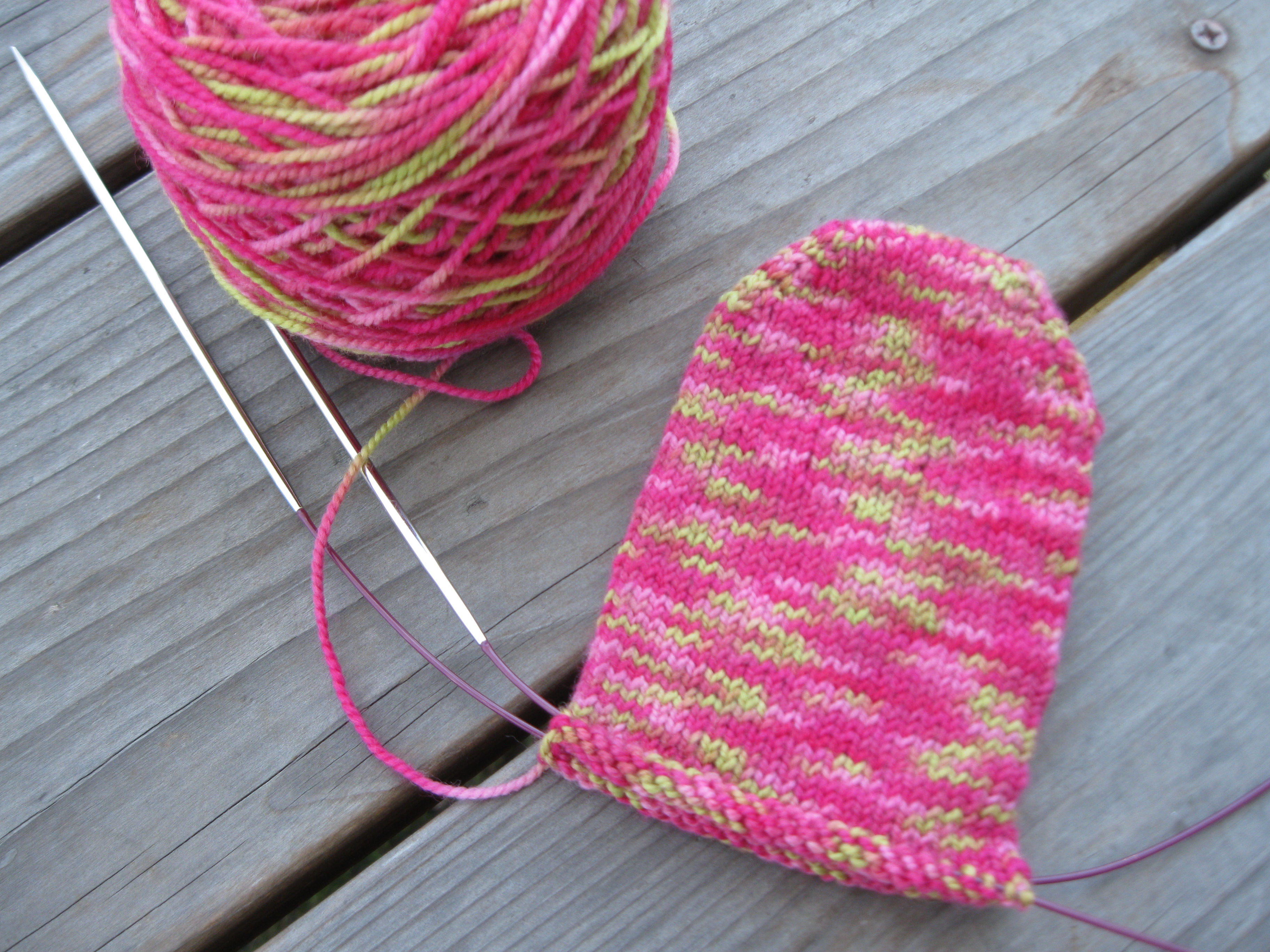 Day 287/365: My Basic Toe-Up Sock Pattern | 365 Days Handmade