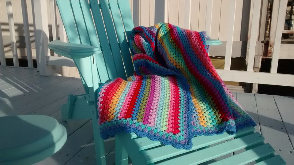 Week 12/52: The Granny Stripe Blanket, Finished | 365 Days
