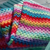 Week 12/52:  The Granny Stripe Blanket, Finished